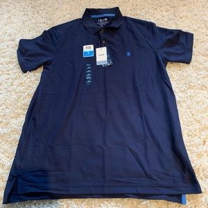 Men's blue Izod collard shirt size medium, NEW.